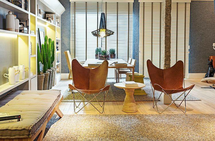дизайн интерьера гостиной, красивые интерьеры, экзотический интерьер, Ana Paula e Sanderson