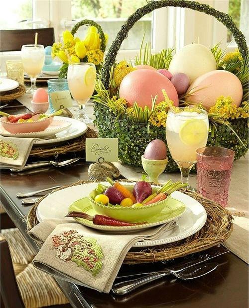как украсить дом на пасху, праздничная сервировка, украшения для дома (к празднику), декор своими руками для дома,