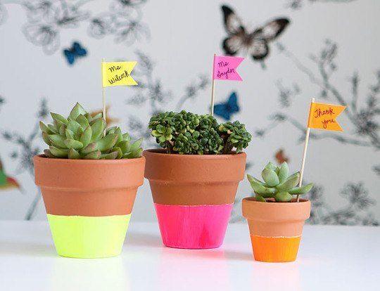 как украсить цветочные горшки, аксессуары для дома, растения в интерьере, декор своими руками для дома,