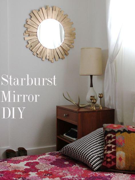 аксессуары для дома, декор своими руками для дома, идеи дизайна интерьера, переделка мебели своими руками, как украсить зеркало, декор зеркала