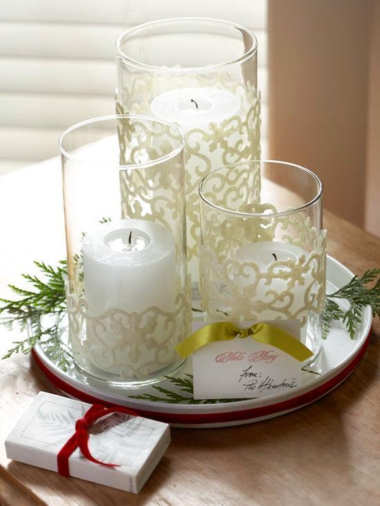 Новогодние композиции из свечей своими руками