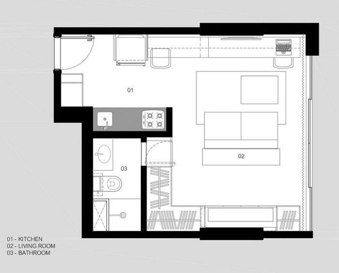 дизайн маленьких квартир, дизайнерские идеи интерьера, дизайн квартиры,