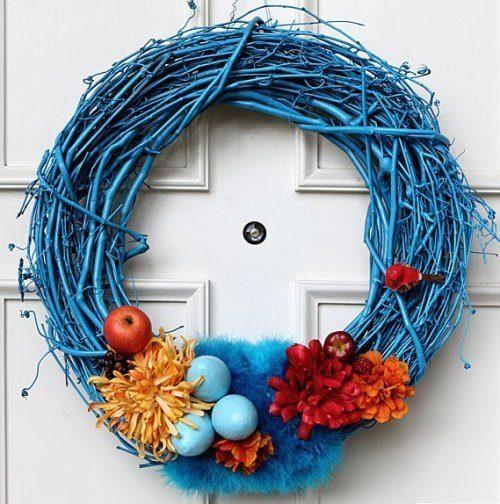 пасхальный венок, пасхальный венок своими руками, декор стен, декор своими руками для дома, украшения для дома (к празднику),