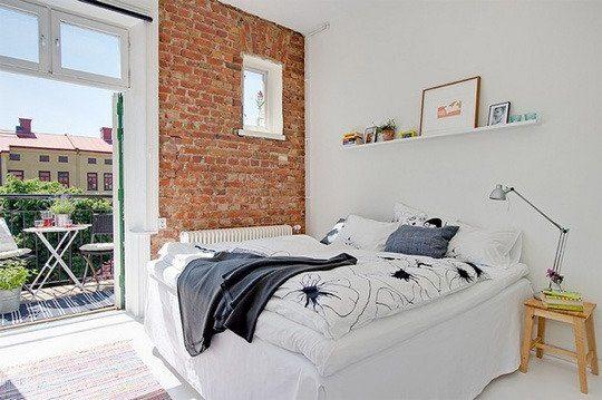 дизайн интерьера спальни, скандинавский интерьер, текстиль в интерьере, покрывало на кровати