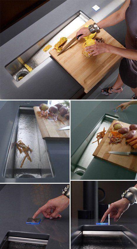 современная кухонная раковина, необычная мойка, дизайн интерьера кухни, дизайн мебели, мебель для кухни фото, дизайнерская мебель,